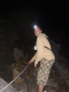 Night climbing on Mount Kinabalu