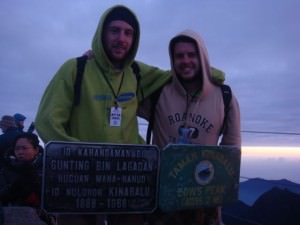 Reaching the summit of Mount Kinabalu