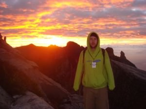 Sunrise at the top of Mount Kinabalu