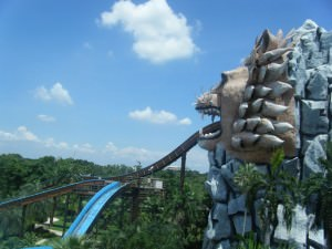 Log flume at Siam Park City