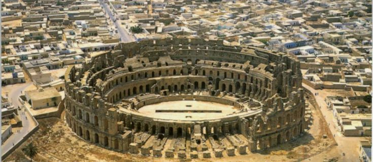 The amphitheater of el jem