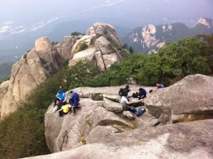 Hiking in Bukhansan