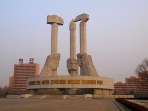 Workers party monument pyongyang
