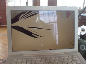 broken macbook