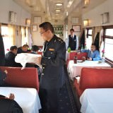 Dining cart on the trans siberian