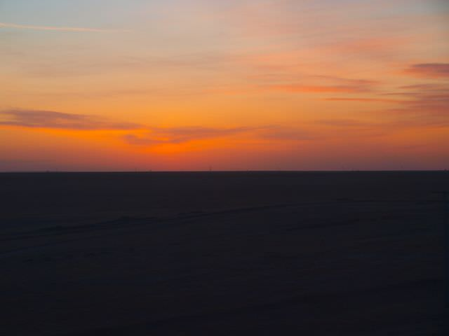 Sunset on the Gobi Dessert