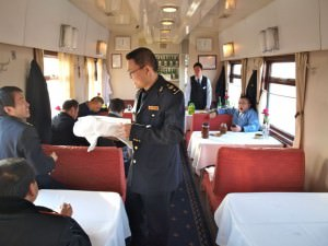 dining cart on trans siberian