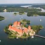 Fairytale Buildings at Trakai Castle, Lithuania