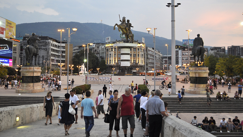 Plostad Makedonija Skopje Central Square