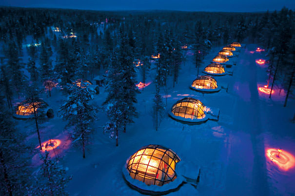 glass igloo Hotel Finland