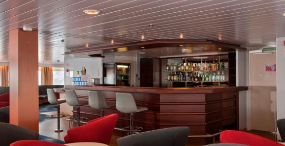 The bar on the ship