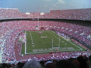 Ohio stadium with 105000 peeps