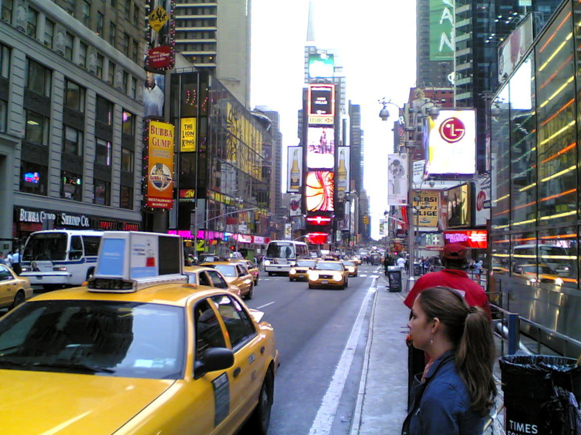 One last glimpse at Times Square