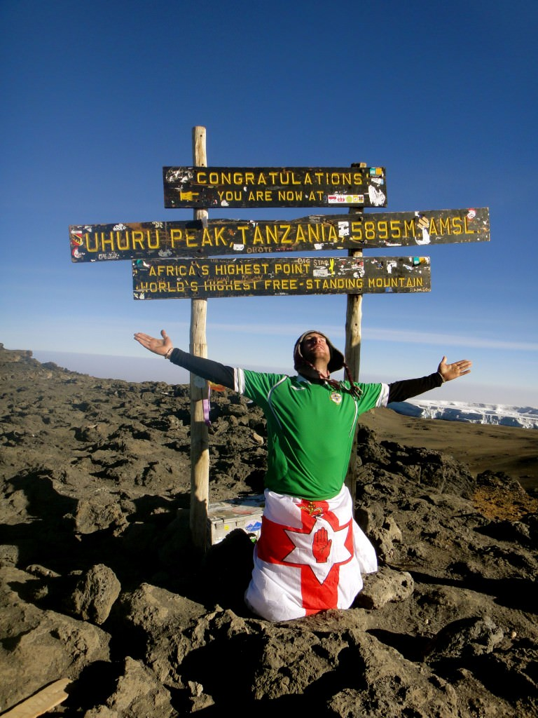Top of Kilimanjaro,   Africa's highest mountain