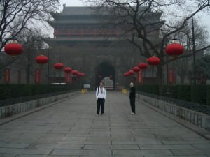 Backpacking in Xi'an,   city walls