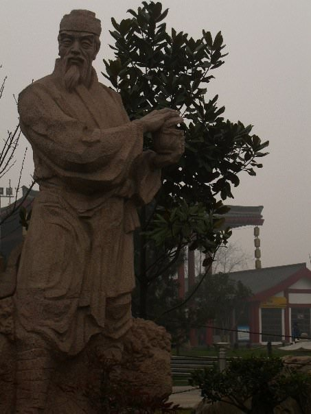 Old tea sage in Xi'an, backpacking in China
