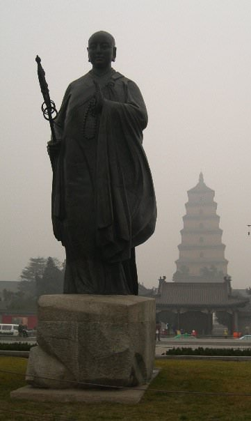 Wild goose pagoda in Xi'an, backpacking in China