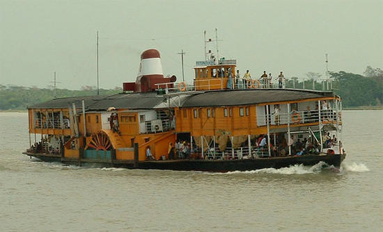 the rocket steamer boat from Dhaka to Khulna