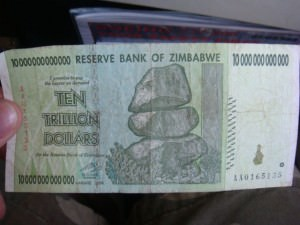 One Hundred Trillion Dollars,   Zimbabwe currency