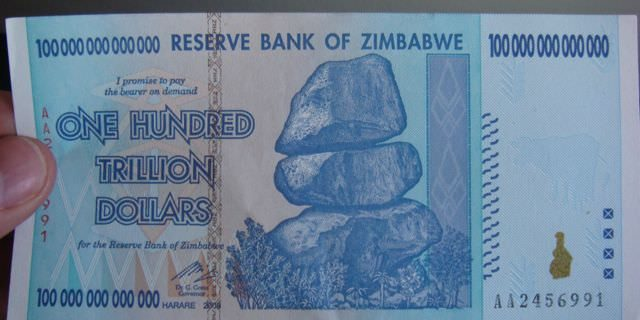 one hundred billion Zimbabwe dollars