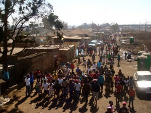Angry mob in Soweto