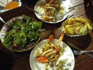 Delicious seafood in Mozambique