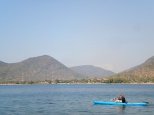 Kayaking in Lake Malawi