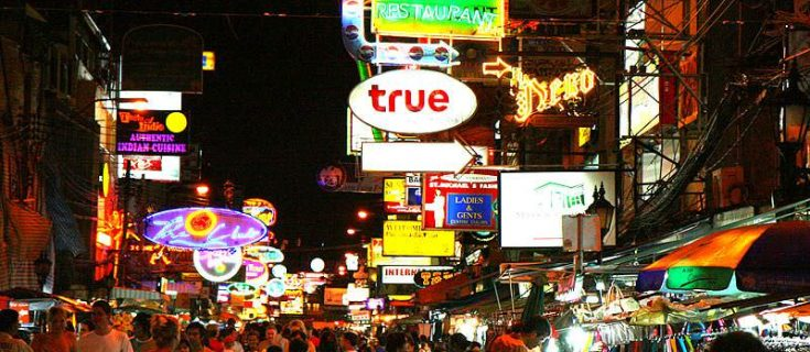 Partying on Khao San Road