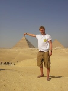 picking up the pyramid