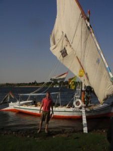 taking a felucca on the nile