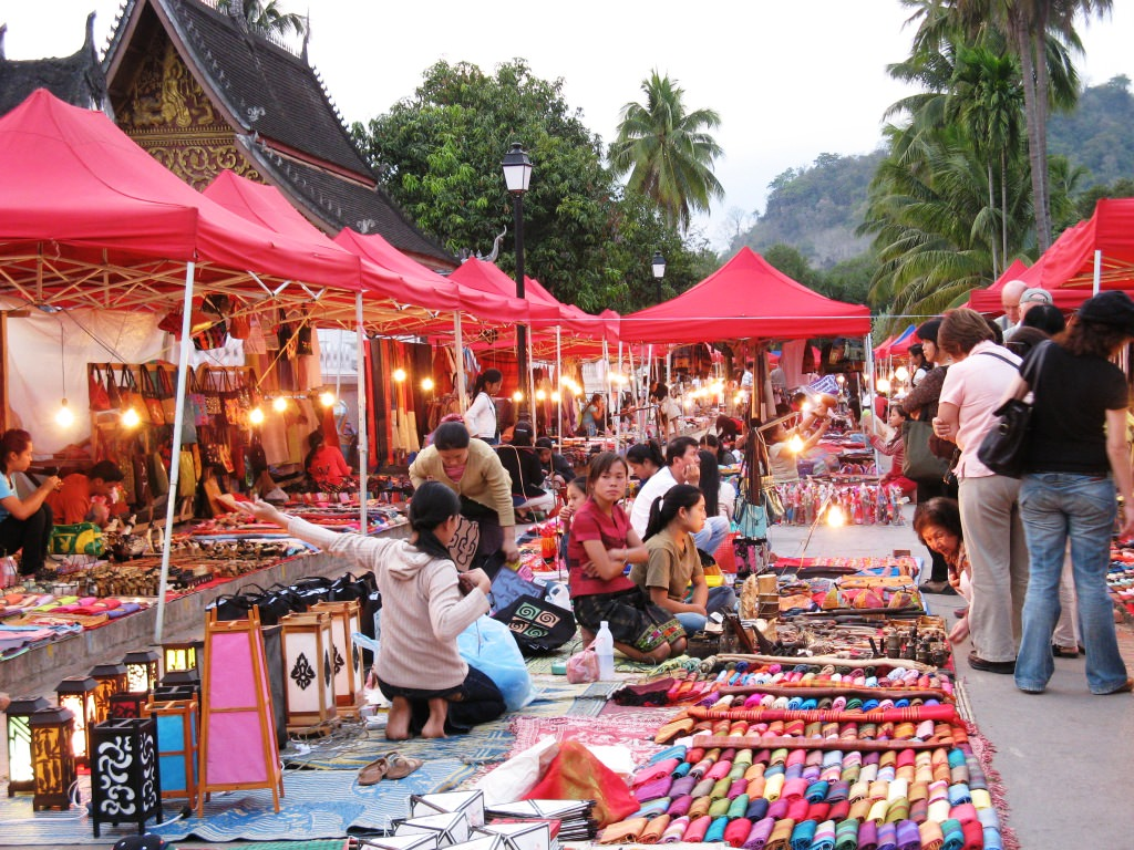 bargain hunting in a weekend market
