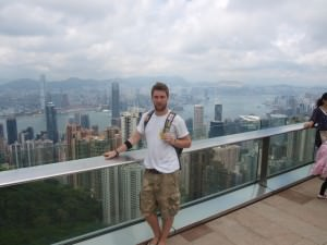 The view from the peak in Hong Kong