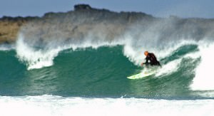 Surfing at St Ives,   Cornwall - Dave Hamster