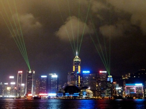 victoria harbour light show