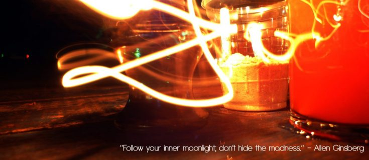 Follow your inner moonlight, dont hide the madness