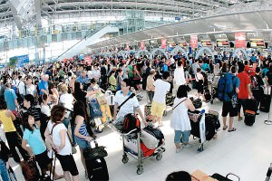 Long immigration queues