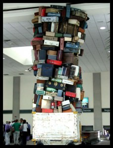Overpacked luggage