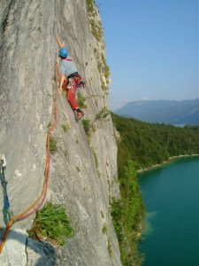 Rocking climbing in Austria
