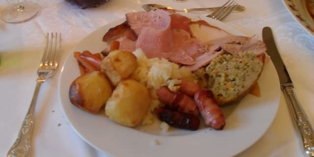 Christmas dinner in Ireland