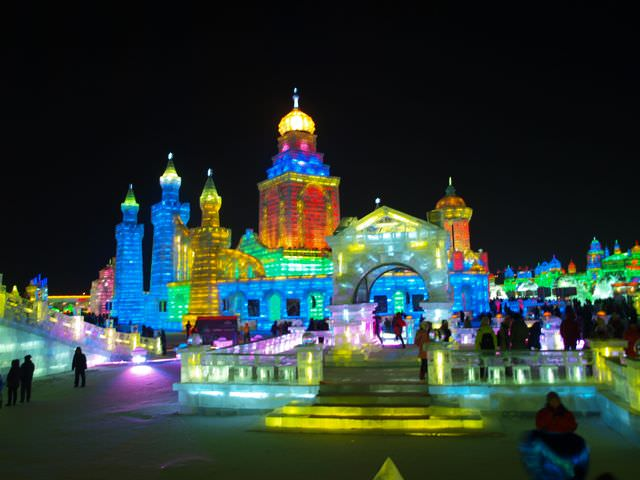 The Ice and Snow Festival in Harbin China amazing