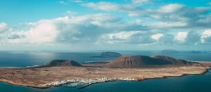Canary Islands on a map