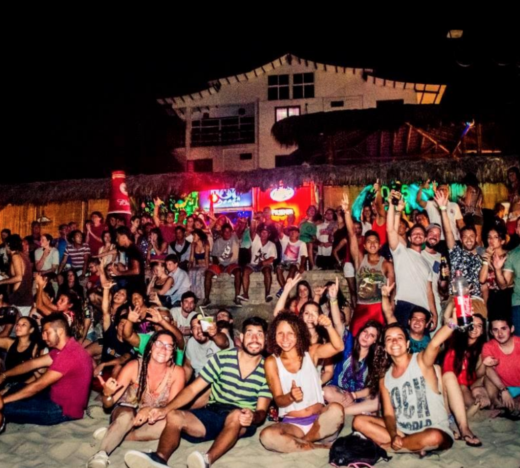Montañita Full Moon party