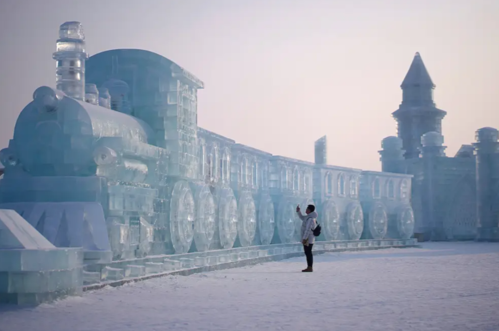 Ice festival in China