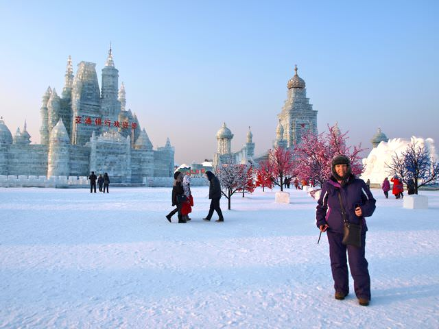ice festival in Harbin China