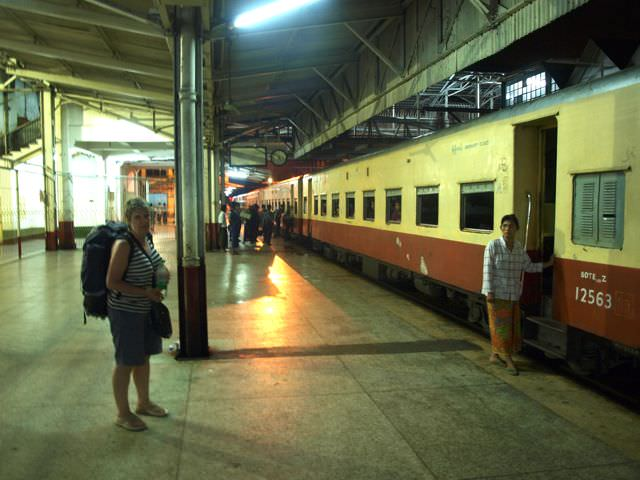 taking the train in burma