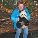 How to Hold a Panda in Chengdu Panda Park, China