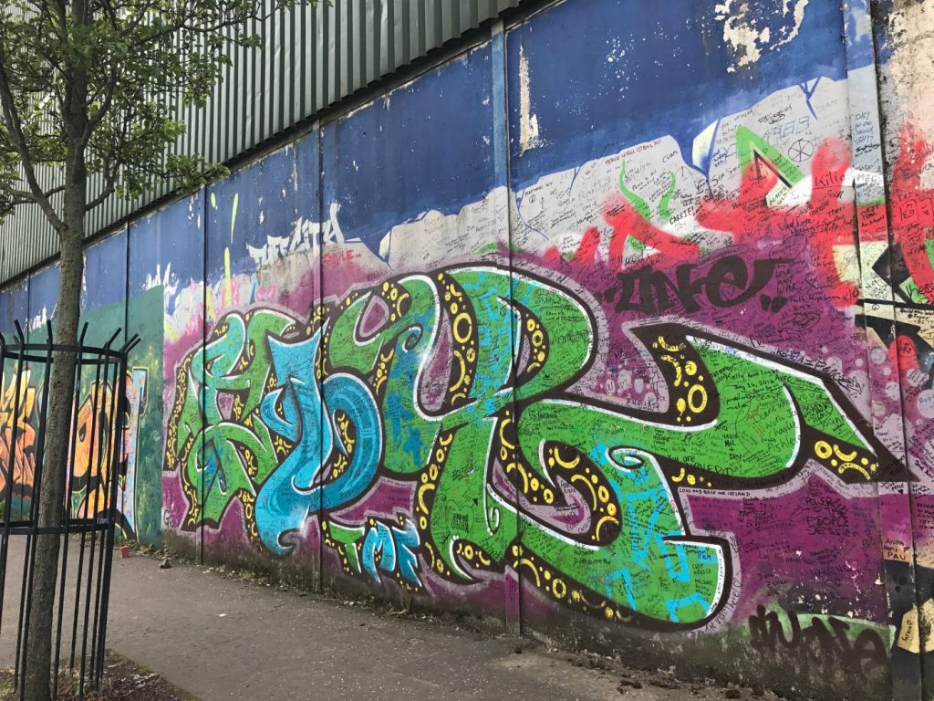 The Peace Wall in Belfast