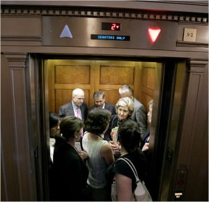 blocking the elevator