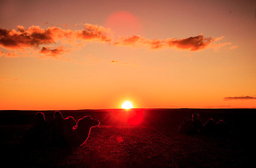 sunset mongolia