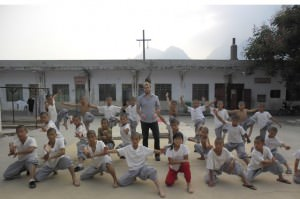 Training at the shaolin temple